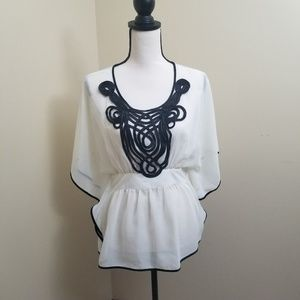 The Limited Sheer White/Cream Blouse XS Flowy